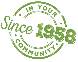 In your community since 1958